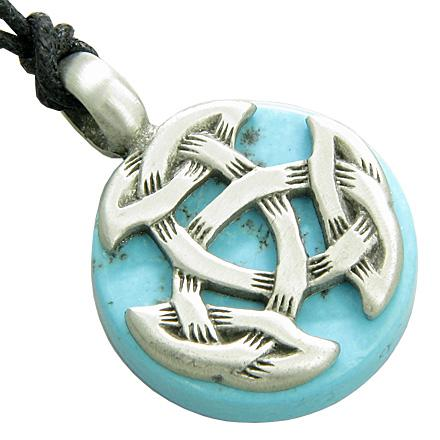 Celtic Protection Knots Natural Turquoise Gemstones Jewelry and Gifts