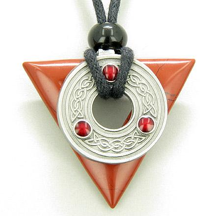 Celtic Protection Knots Natural Red Jasper Gemstones Jewelry and Amulets