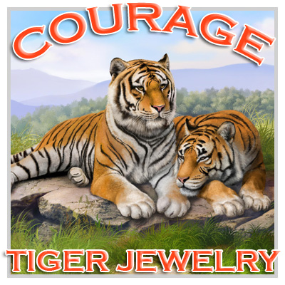 Courage and Wild Tiger Amulets