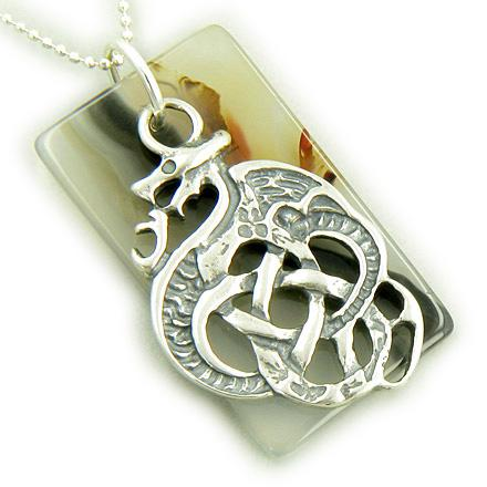 Lucky and Courage Dragon Good Luck Symbol Dog Tags Jewelry Amulets and Talismans