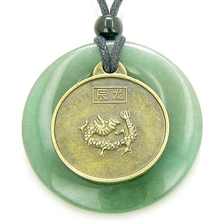 Lucky and Courage Dragon Good Luck Symbol Medallions Jewelry Amulets and Talismans