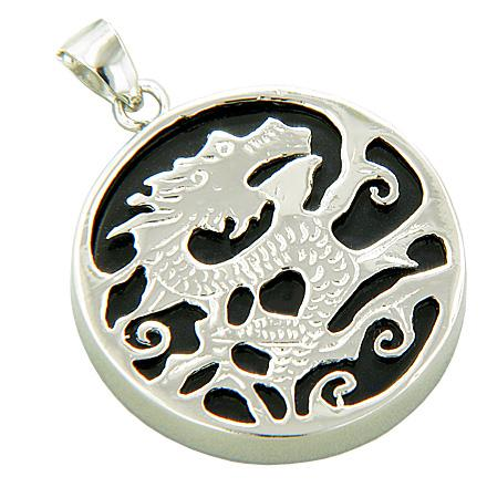 Lucky Courage Dragon Natural Onyx and Agate Gemstones Jewelry and Gifts