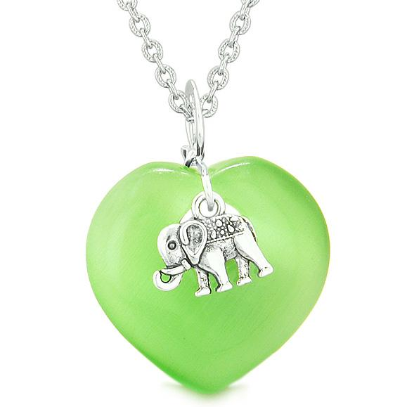 Lucky Elephant Good Luck Charms Amulets in Cats Eye Crystals