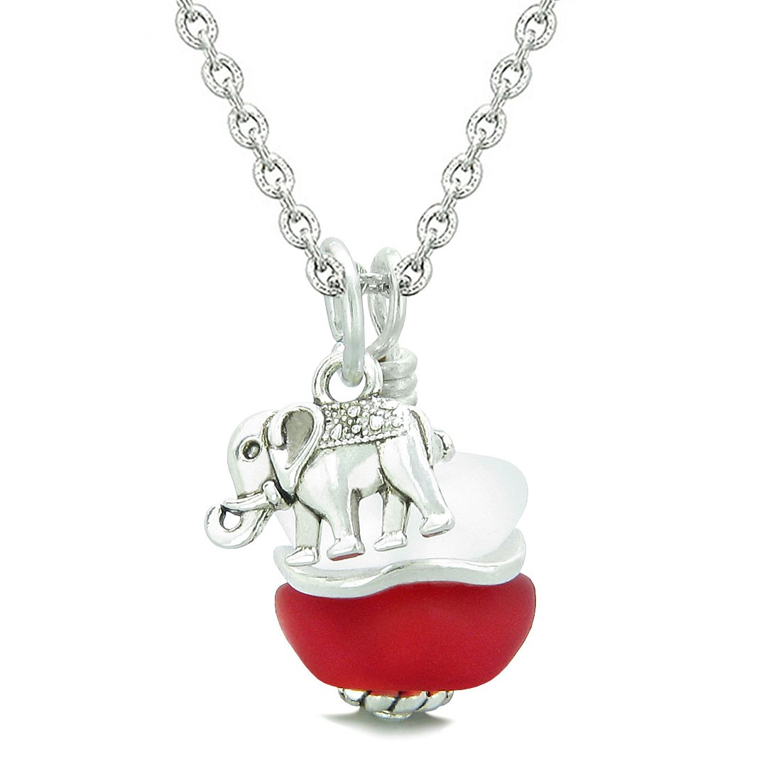 Lucky Elephant Good Luck Charms Sea Glass Jewelry Amulets and Talismans