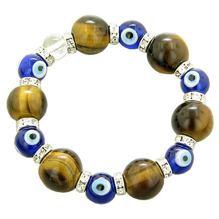 Evil Eye Protection Tiger Eye Gemstone Powers Unique Bracelets