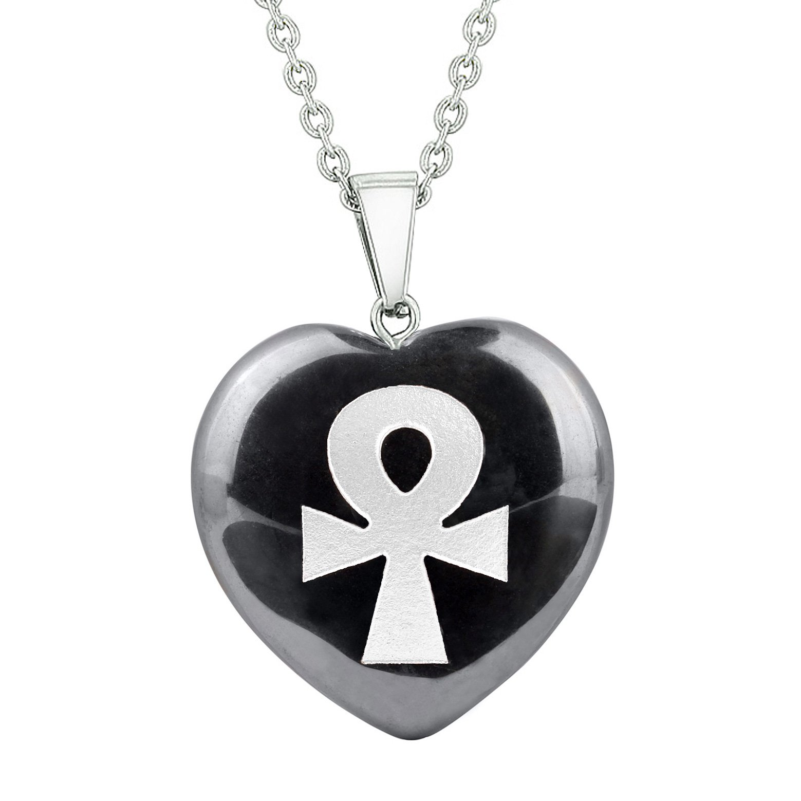 Ankh Powers of Life Ancient Amulets in Hematite Gemstone