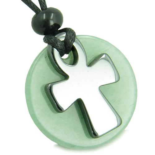 Egyptian Ankh Spiritual Powers of Life Feng Shui Natural Gemstone Jewelry Amulets and Talismans