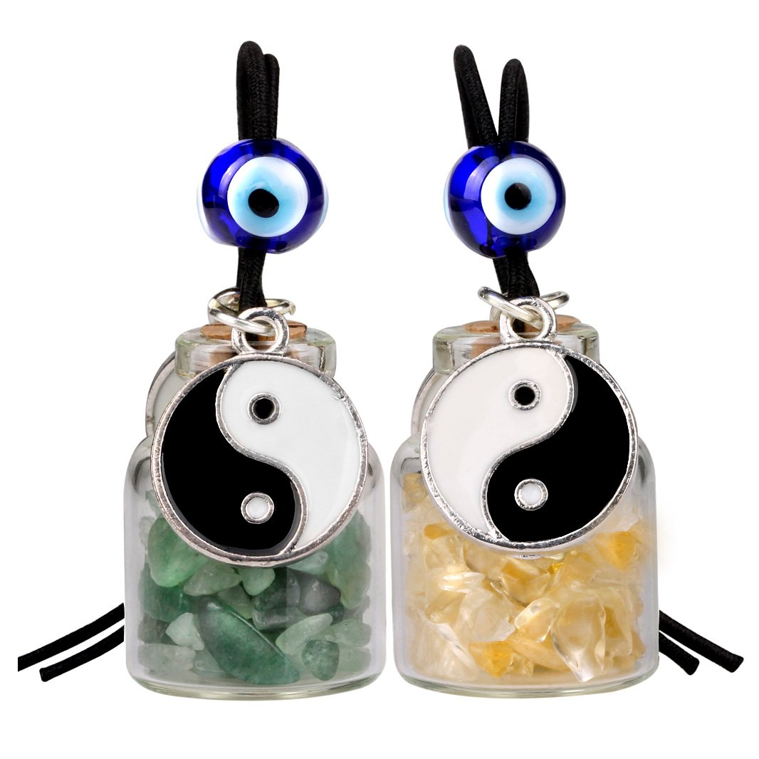Yin Yang Feng Shui Good Luck Symbols Car Charms Gifts and Amulets