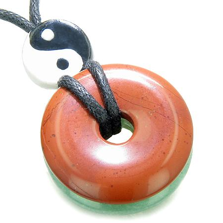 Yin Yang Feng Shui Good Luck Symbols Lucky Donut Amulet Jewelry and Gifts