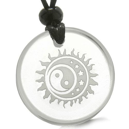 Yin Yang Feng Shui Good Luck Colorful and Crystal Quartz Jewelry and Gifts