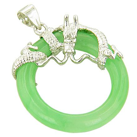 Feng Shui Courage Magic Dragon Natural Jade Gemstones Jewelry and Gifts