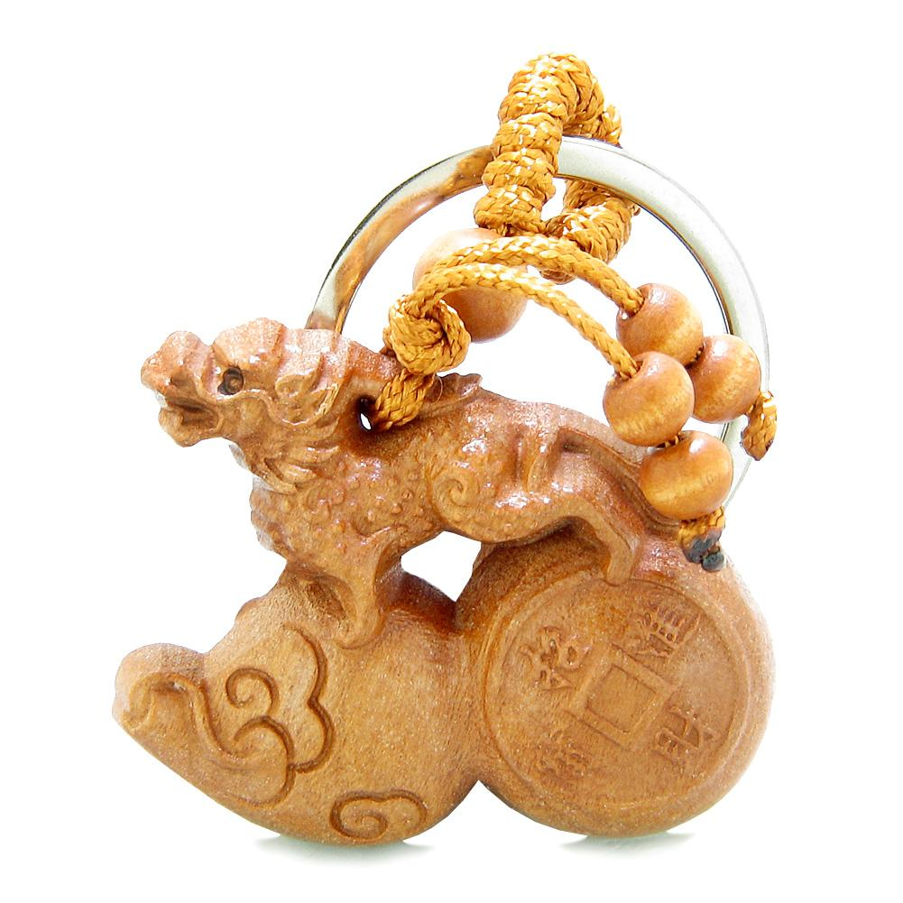 Feng Shui Courage and Lucky Dragon Magic Symbol Keychains Amulets and Gifts
