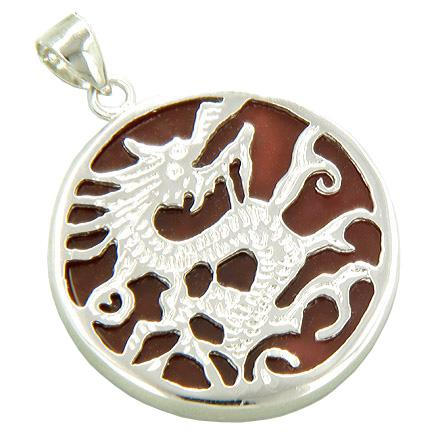 Feng Shui Courage and Lucky Dragon Magic Symbol Medallions Jewelry Amulets and Talismans
