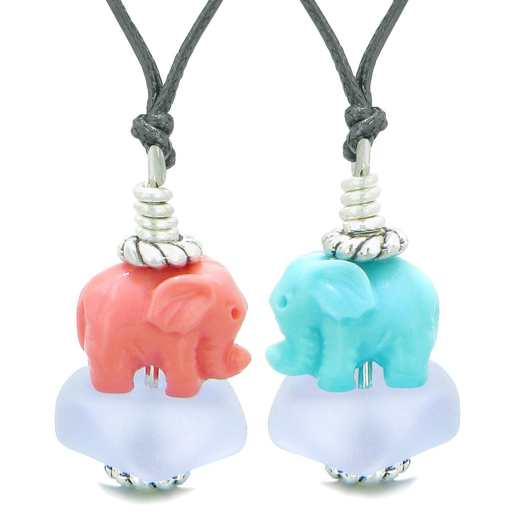 Lucky Elephant Feng Shui Charms Love Couples and Best Friends Jewelry Amulets and Talismans