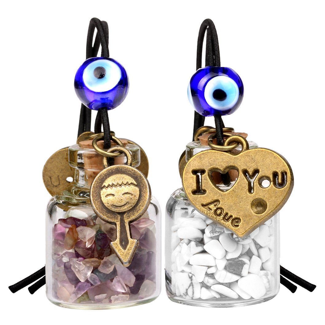 Fluorite Gemstone Crystal Car Charms and Gifts