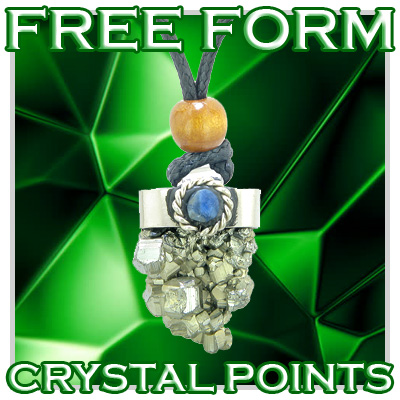 Free Form Handcrafted Crystal Point Amulets