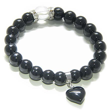 Black Onyx and Agate Natural Gemstone Lucky Bracelets Fashion and Unique Jewelry Amulets