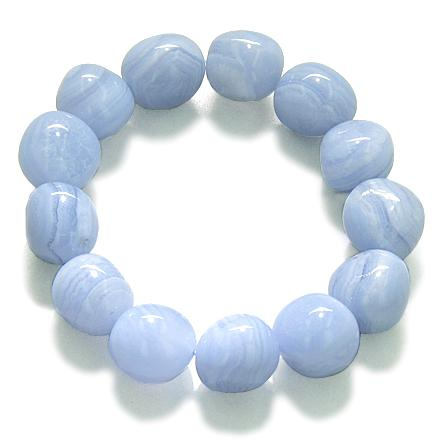 Blue Lace Agate Natural Gemstone Lucky Bracelets Fashion and Unique Jewelry Amulets