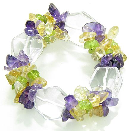 Crystal Quartz Rock Natural Gemstone Lucky Bracelets Fashion and Unique Jewelry Amulets