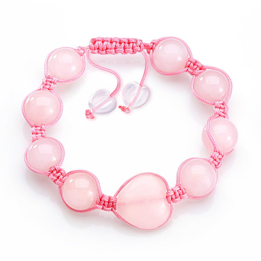Rose Quartz Natural Gemstone Lucky Bracelets Fashion and Unique Jewelry Amulets