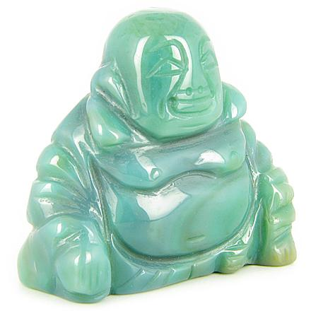 Gemstone Happy Laughing Buddha Carvings and Pocket Totem Amulets and Talismans Gifts