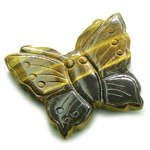 Gemstone Lucky Butterfly Carvings and Pocket Totem Amulets and Talismans Gifts