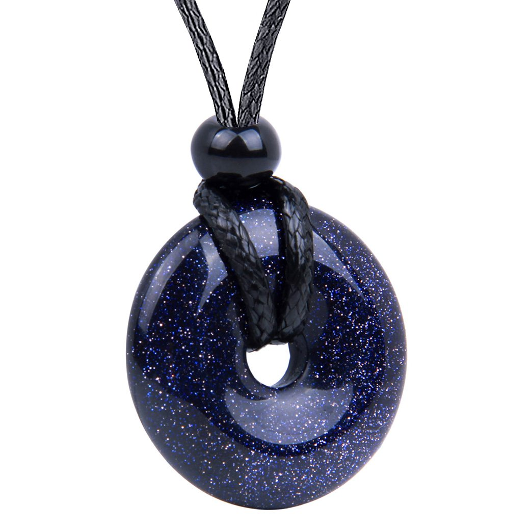 Lucky Donuts Natural Gemstones Goldstone Amulets and Talismans