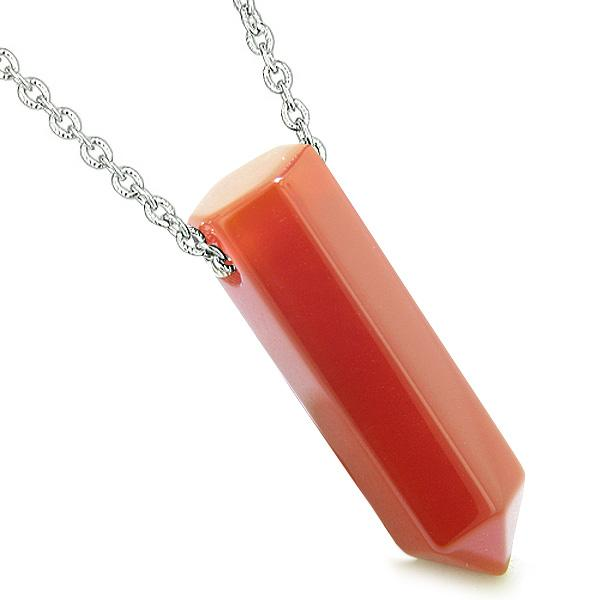 Carnelian Gemstone Crystal Point Wand Jewelry and Amulets