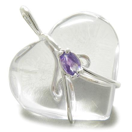 Crystal Quartz Gemstone Heart Shaped Gifts and Jewelry