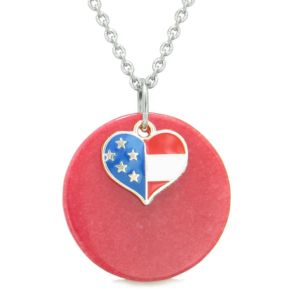 Colorful and Fun Quartz Gemstone American Pride Jewelry