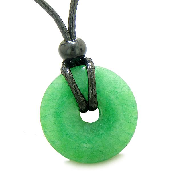 Colorful and Fun Quartz Gemstone Lucky Donut and Coin Amulet Jewelry