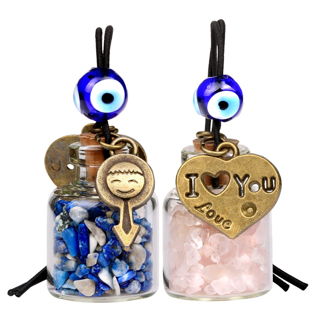 Love Couples I Love You Gemstone Car Charms