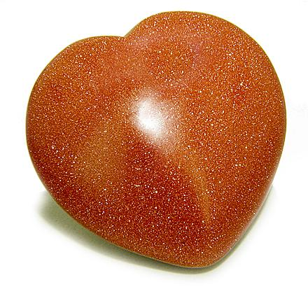 Goldstone Crystal Heart Shaped Gifts and Jewelry