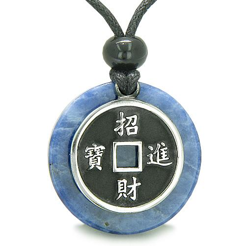 Good Luck Powers Sodalite Gemstone Medallion Amulets and Jewelry