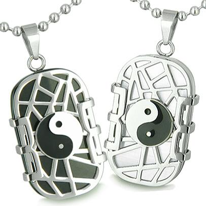 Love Couples and Best Friends Sets Unique Lucky Yin Yang Magic Powers Amulets and Gifts
