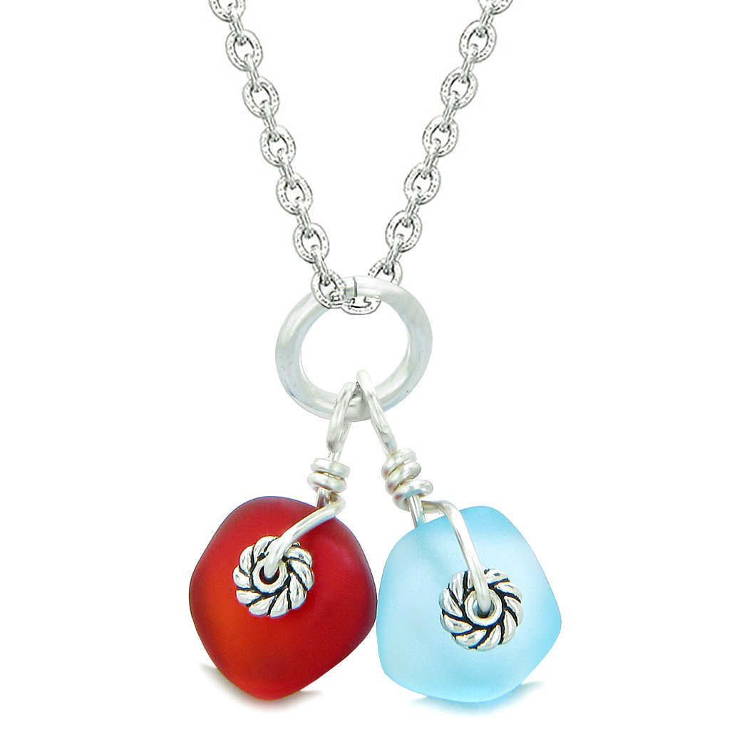 Good Luck Charms Sea Glass Jewelry Twisted Twincies Collection Amulets and Talismans