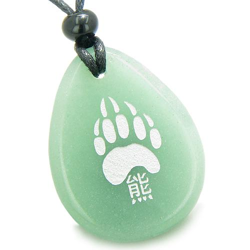 Good Luck Charms Wish Stones Grizzly Bear Necklaces Brave Powers Amulets and Talismans