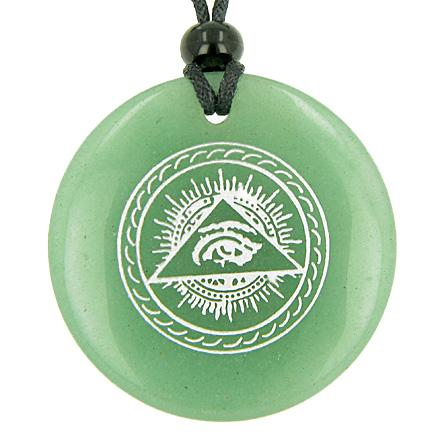 Good Luck Charms Wish Stones Medallion Circle Necklaces Magic Amulets and Talismans