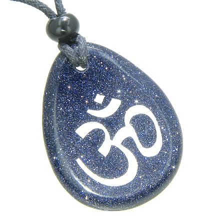 Good Luck Charms Wish Stones Om Ohm Necklaces Magic Amulets and Talismans Gifts