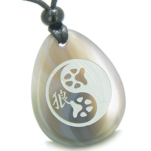 Good Luck Charms Wish Stones Lucky Yin Yang Necklaces Magic Amulets and Talismans Gifts