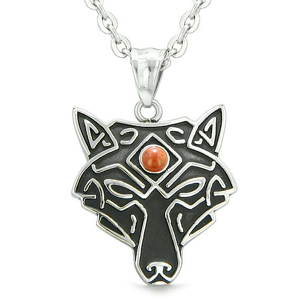 Wolves Celtic Necklaces Jewelry Wild Spiritual Powers Amulets and Talismans Gifts