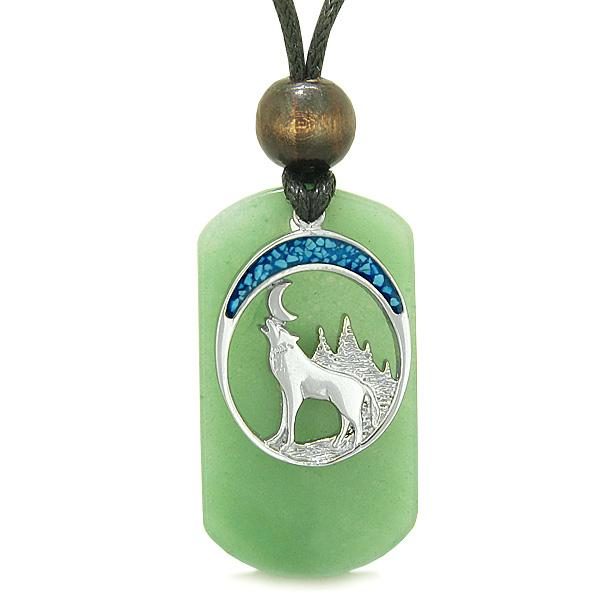 Wolves Dog Tag Necklaces Jewelry Wild Spiritual Powers Amulets and Talismans Gifts