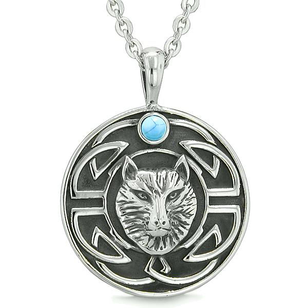 Wolves Fashion Amazing Necklaces Jewelry Wild Spiritual Powers Amulets and Talismans Gifts