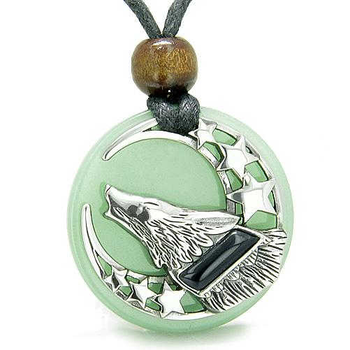 Wolves Medallions Necklaces Jewelry Wild Spiritual Powers Amulets and Talismans Gifts