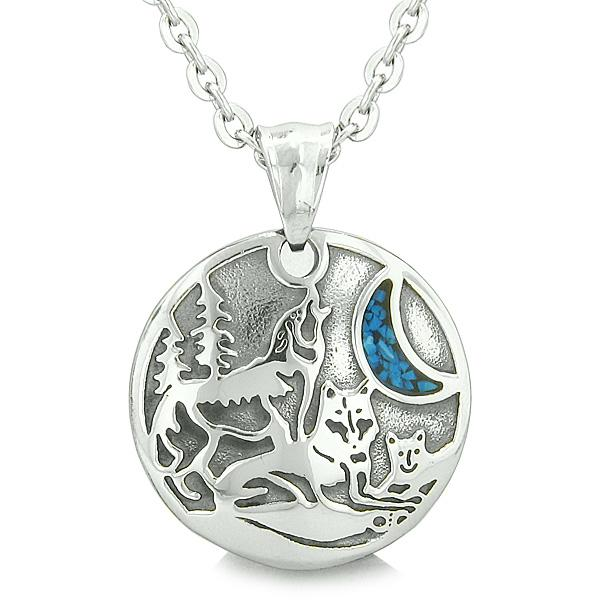 Wolves Family and Unity Necklaces Jewelry Wild Spiritual Powers Amulets and Talismans Gifts