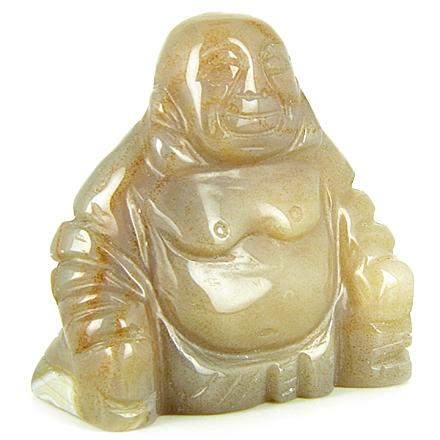 Crystal Happy Laughing Buddha Pocket Totem and Gemstone Carvings Amulets Good Luck Gifts