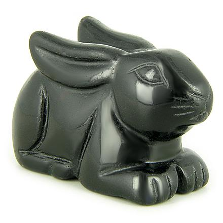 Crystal Lucky Rabbit Pocket Totem and Gemstone Carvings Amulets and Talismans Good Luck Gifts