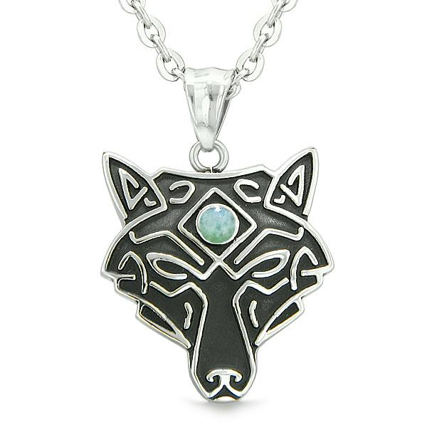 Celtic Wolf Jewelry Necklaces Protection Wild Powers Amulets and Talismans Gifts