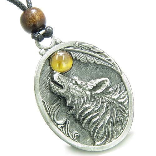 Howling Wolf Jewelry Necklaces Protection Wild Powers Amulets and Talismans Gifts