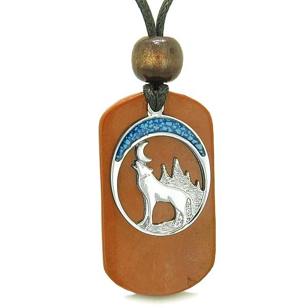 Wolf Dog Tag Jewelry Necklaces Protection Wild Powers Amulets and Talismans Gifts